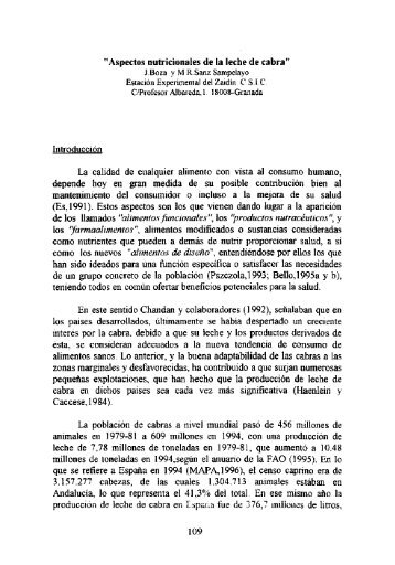 Aspectos nutricionales de la leche de cabra - Instituto de Academias ...