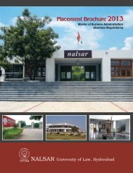 MBA (BR) Placement Brochure - NALSAR University of Law