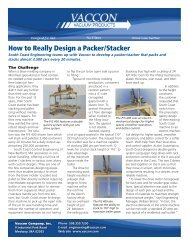 How to Really Design a Packer/Stacker - Vaccon Vacuum Products