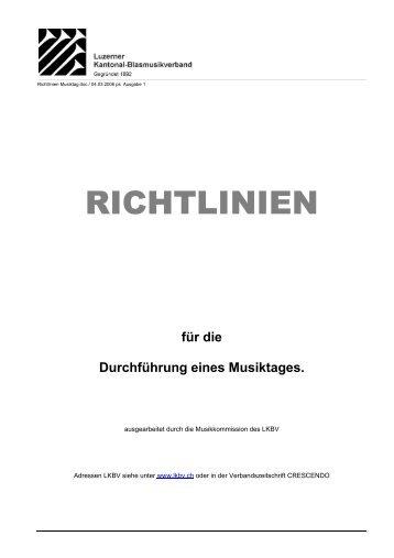 RICHTLINIEN - Luzerner Kantonal-Blasmusikverband