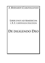 Liber de diligendo Deo - Gespräche im Kreuzgang