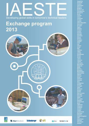 2013 Exchange program - Iaeste