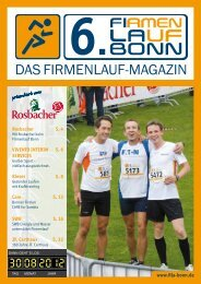 Fila Magazin 2012 - 6. Firmenlauf Bonn