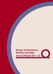 Energy Ombudsman Western Australia Annual Report 2011-12