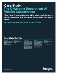 Case Study: The Oklahoma Department of Wildlife ... - Asigra