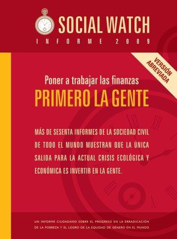 Poner a trabajar las finanzas - Social Watch