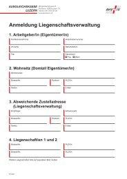 Anmeldung Liegenschaftsverwaltung - Ausgleichskasse Luzern