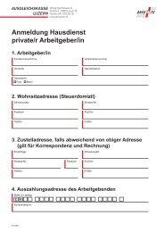 Anmeldung für private Arbeitgebende - Ausgleichskasse Luzern