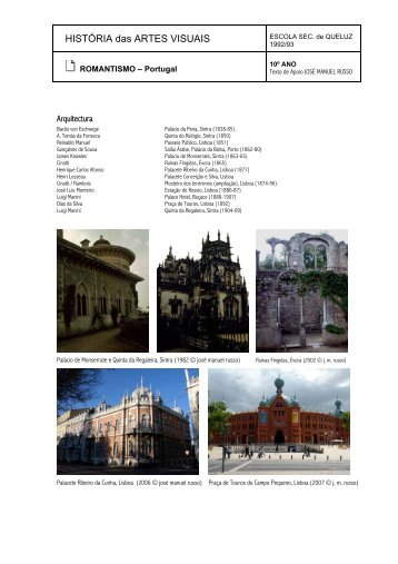 Romantismo: Portugal - Home Page de José Manuel Russo
