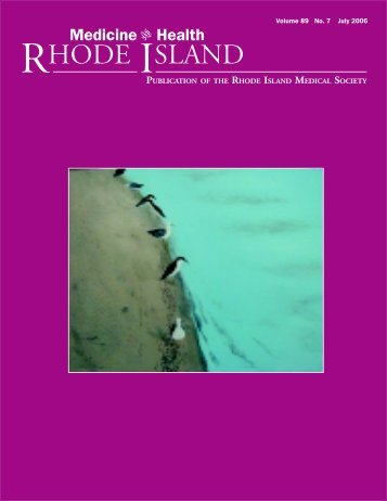 Volume 89 No. 7 July 2006 - Rhode Island Medical Society