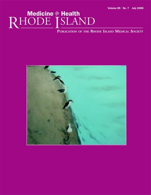 Volume 89 No. 7 July 2006 - Rhode Island Medical Society