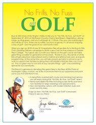 No Frills, No Fuss, Just Golf! - Boys and Girls Clubs of Huntington ...
