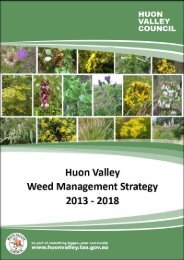 Huon Valley Weed Management Strategy 2013-2018