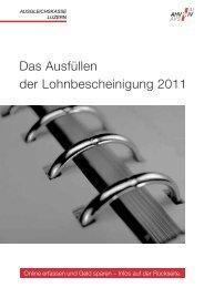 Flyer Lohnbescheinigung 2011 - Ausgleichskasse Luzern