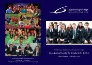 open evening booklet 2009 - South Bromsgrove High School ...