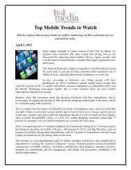 Top Mobile Trends to Watch - HB