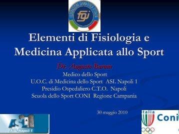 Elementi di Fisiologia e Medicina applicata allo Sport