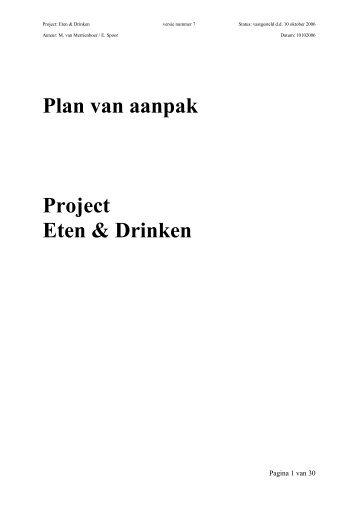Plan van aanpak Project Eten & Drinken - Annevillegroep