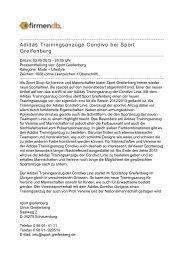 Adidas Trainingsanzüge Condivo bei Sport Greifenberg - Firmendb