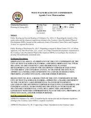 Agenda Cover Memorandum for 03/ - City of West Palm Beach