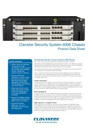Clavister Security System 6006 Chassis