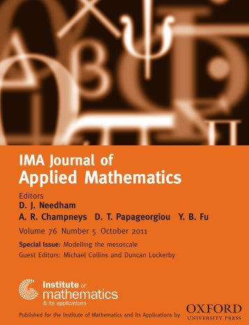 Front Matter (PDF) - IMA Journal of Applied Mathematics - Oxford ...