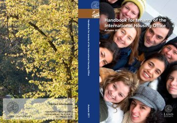 Handbook for tenants of the International Housing ... - Lund University