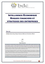 Risques financiers et stratégies des entreprises - Base de ...