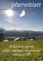 Nr. 04 vom 9. bis 22. März 2013 - Pfarrei-ruswil.ch