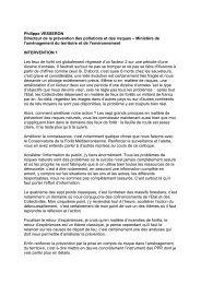 Philippe VESSERON Directeur de la prévention des pollutions et ...