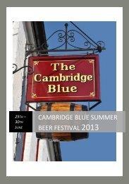 cambridge blue summer beer festival 2013 - The Cambridge Blue
