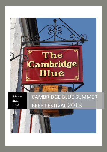 cambridge blue summer beer festival 2013 - The Cambridge Blue