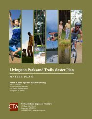Livingston Parks and Trails Master Plan - City of Livingston, Montana