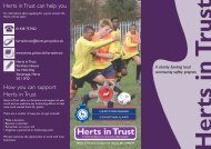 Herts in Trust can help you How you can support Herts in Trust
