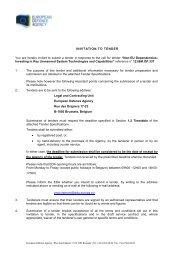 12.I&M.OP.337- Invitation Letter - European Defence Agency - Europa
