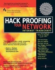 Hack Proofing - Your Network - Internet Tradecraft.pdf - HackBBS
