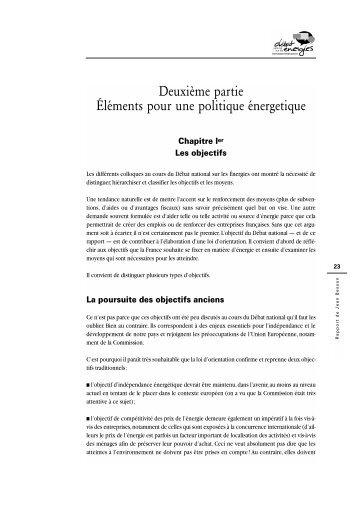 Une stratégie énergétique pour la France. Éléments ... - Vie publique