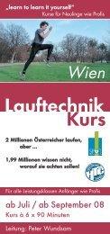 Lauftechnik Kurs - MaxFun.at
