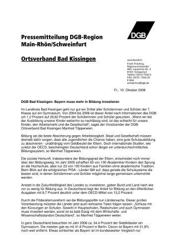 Pressemitteilung zum Download - DGB-Schweinfurt