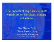 The impacts of climate variability on Pacific Northwest climate and ...