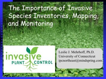 Mapping - Invasive Plant Control, Inc.