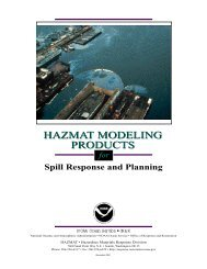 Hazmat Modeling Products for Spill Response and Planning - Edocs