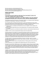 PRESS RELEASE - World Uranium Weapons Conference 2003