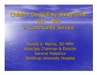 Children Do Well by Doing Good Win – Win in Community Service