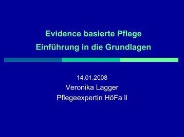 Evidence basierte Pflege Einführung in die Grundlagen