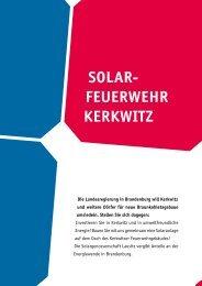 Solar feuerwehr KerKwitz - Lausitzer Braunkohle