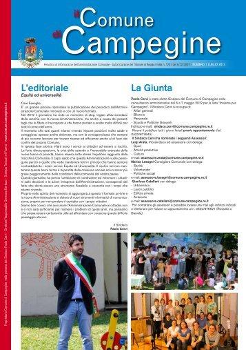 Luglio 2013 - Comune di Campegine