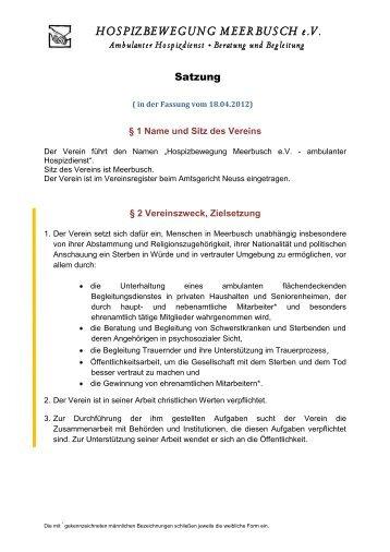 Satzung - Hospizbewegung Meerbusch e.V.