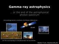 Gamma-ray astrophysics - The Center for High Energy Physics