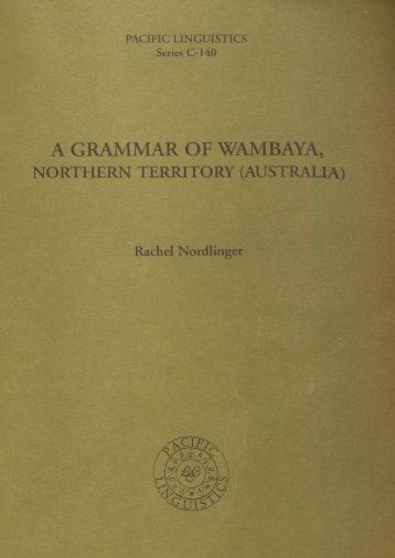 A GRAMMAR OF WAMBAYA,